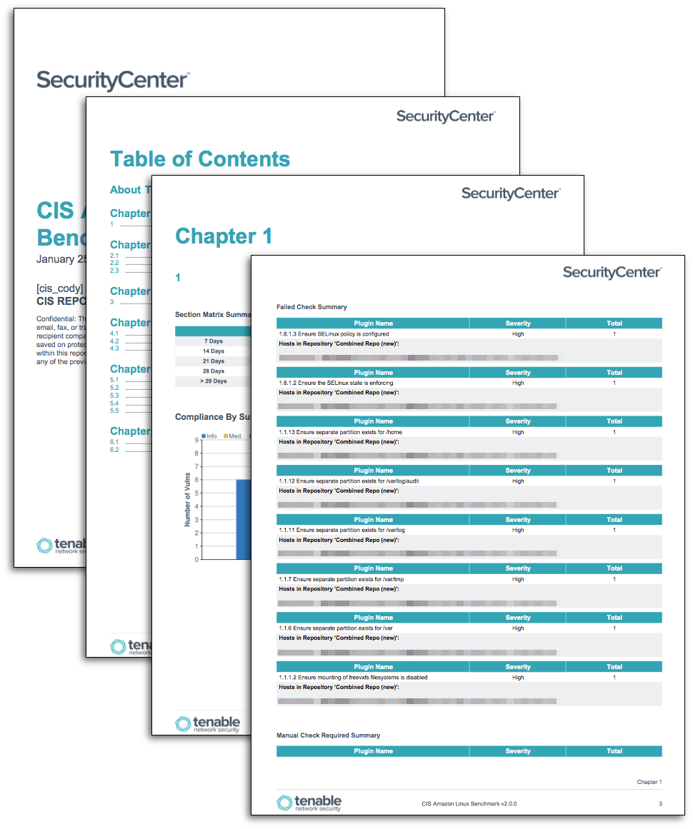 CIS Linux and Unix Benchmark Reports - SC Report Template