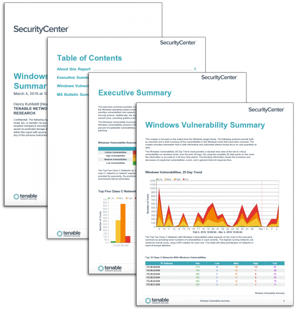 Windows Vulnerability Summary Report